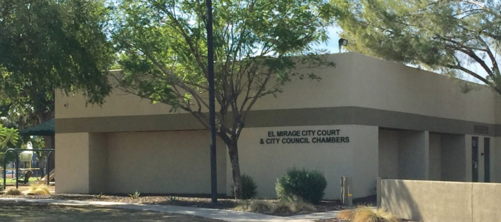 Where is El Mirage city court at? Tait and Hall